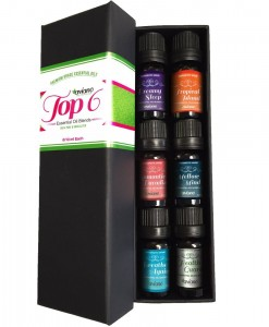 Aviano Botanicals Top 6 Essential Oil Blends Gift Set for Aromatherapy