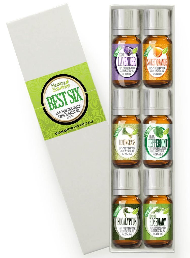 Healing Solutions Best 6 Essential Oils Set