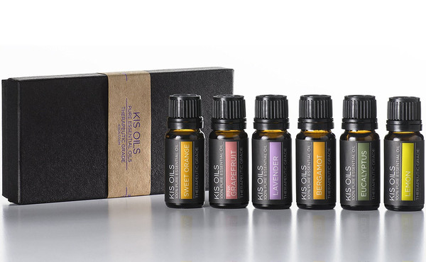 Kis Oils Aromatherapy Fresh Scent Kit Therapeutic Grade Sampler Set