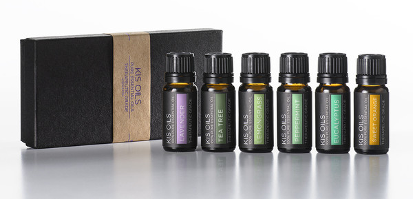 Kis Oils Aromatherapy Top 6 Therapeutic Grade Basic Sampler