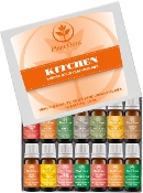 Plant Guru Kitchen Set Essential Oil Variety Set 14 Pack